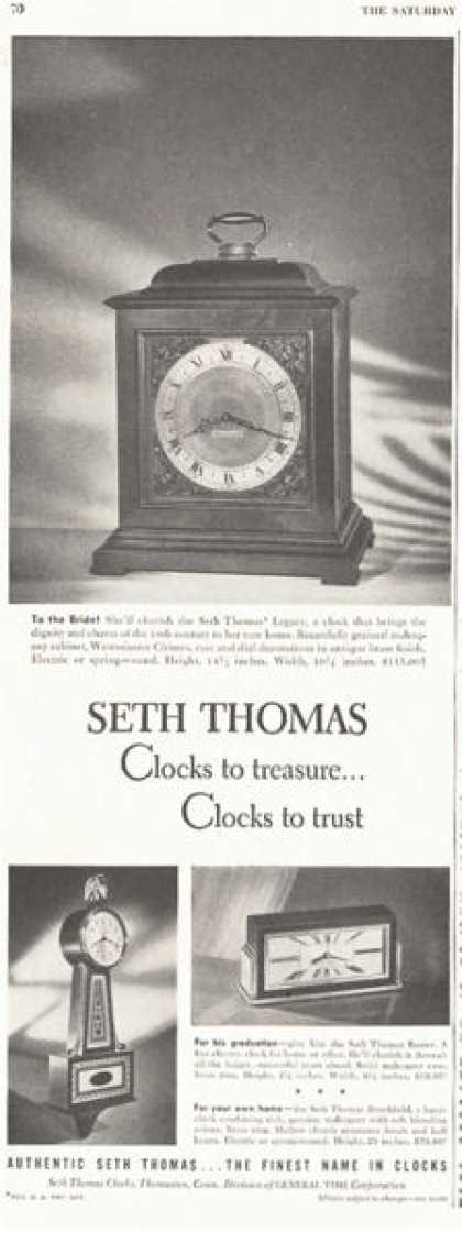 Seth Thomas Banjo Mantle Clock 3 Models (1949)