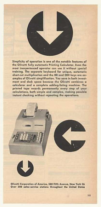 Olivetti Automatic Printing Calculator (1952)