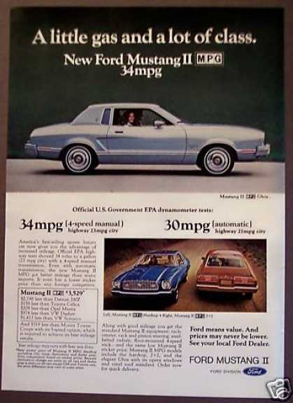 New Ford Mustang Ii Cars Auto (1975)