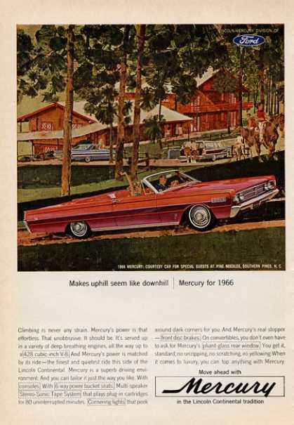 For the '66 Ford Mercury Red Convertible (1965)