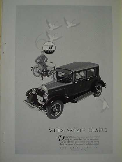 Wills Sainte Claire Automobile Harley Motorcycle cop (1926)