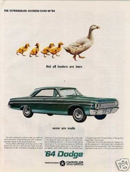 """Dodge Car Ad """"Not All Leaders Are... (1964)"""