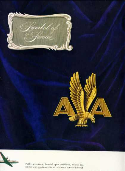 American Airlines Symbol of Service (1946)