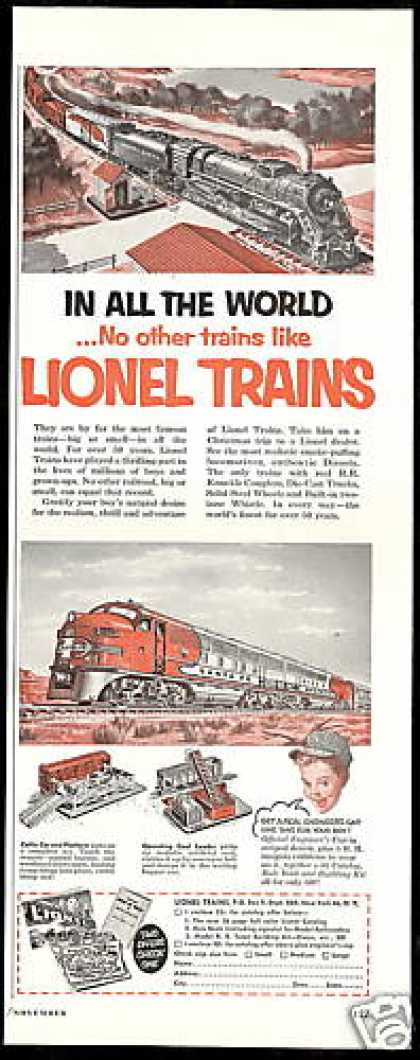 Lionel Toy Trains Like No Other Vintage (1952)