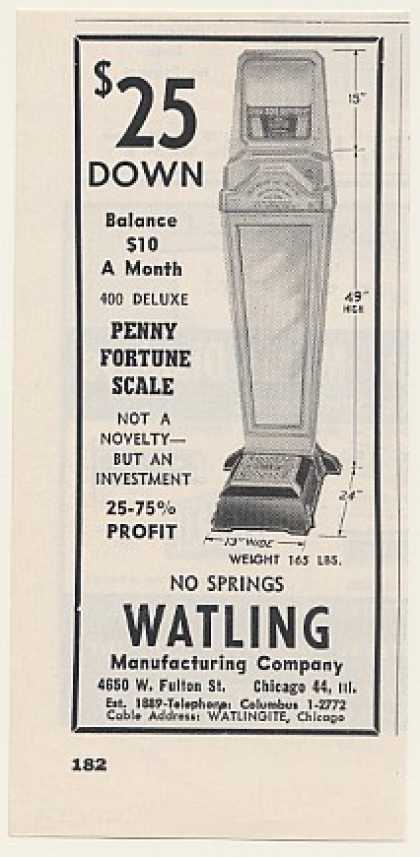 Watling 400 Deluxe Penny Fortune Scale Trade (1955)