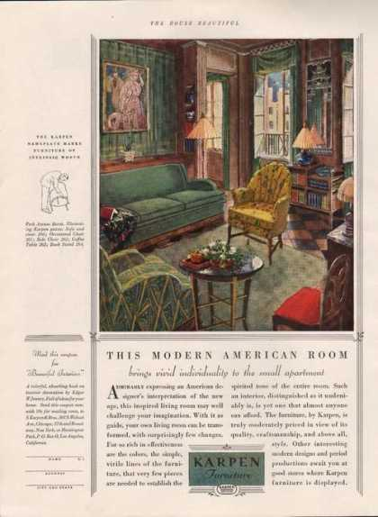 Kapen Modern American Room Furniture (1929)