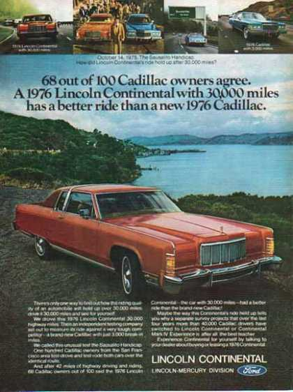 Ford Car – Ford Lincoln Continental / 2 tone Red – Sold (1976)