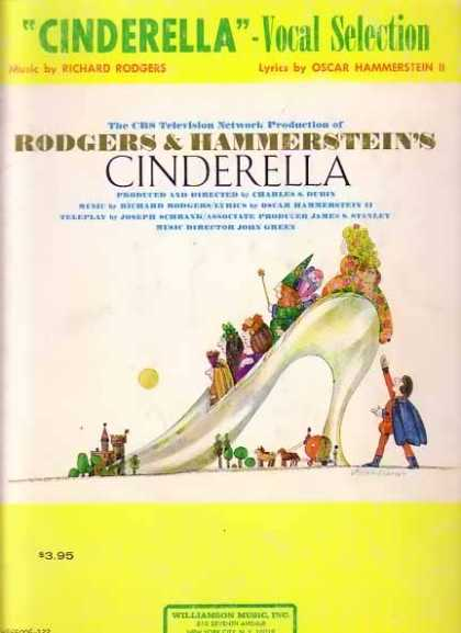 Cinderella – Vocal Selection Movie Sheet Music Book (1957)