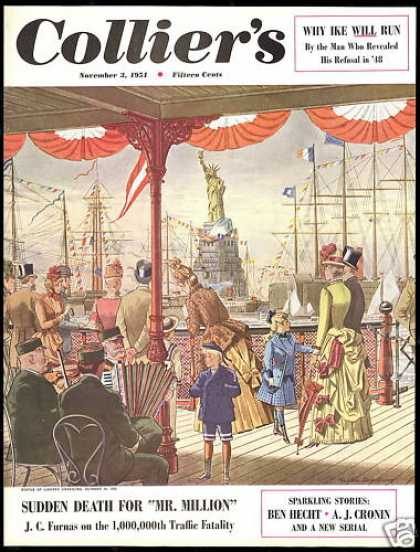 Statue of Liberty Unveiling 1886 Colliers Cover (1951)