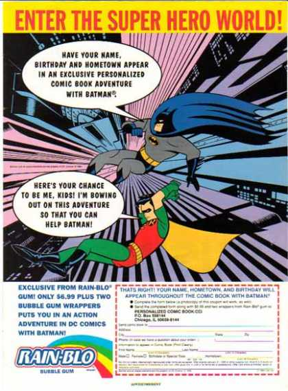 Batman and Robin – Rain Blo Bubble Gum (1994)