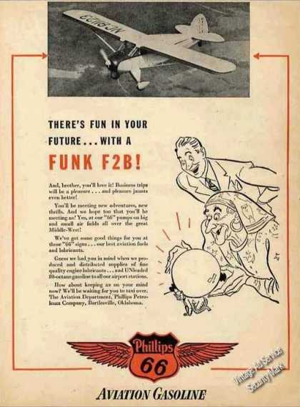Funk F2b Photo Phillips 66 Aviation (1947)