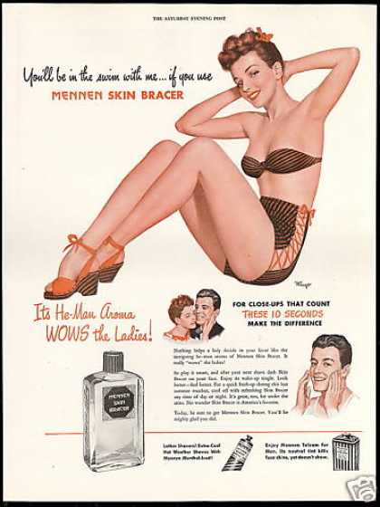 Mennen Skin Bracer Pin up Girl Swimsuit Mingo (1946)