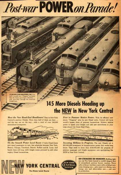 New York Central System – Post-War Power on Parade (1947)