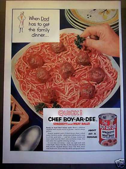 Chef-boy-ar-dee Spaghetti & Meat Balls Food (1953)