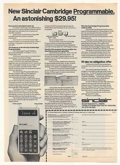 '77 Sinclair Cambridge Programmable Calculator (1977)