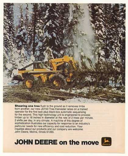 John Deere JD 743 Tree Harvester Tractor Photo (1977)