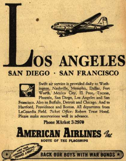 American Airlines – Los Angeles-San Diego-San Francisco (1944)