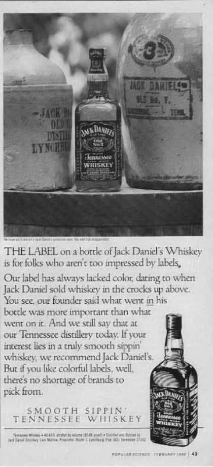 Jack Daniel's – The Label on a bottle... (1990)