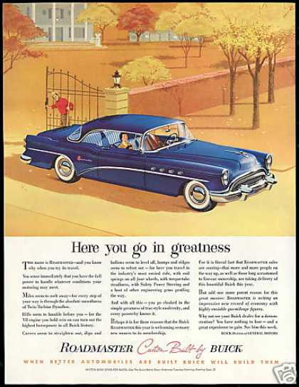 Buick Roadmaster Blue Car Go In Greatness (1954)