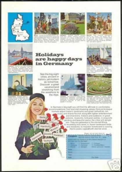 Pretty Woman Germany Travel Vintage Photo (1969)