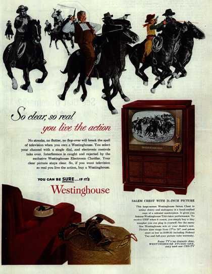 Westinghouse Electric Corporation's Salem Chest television – So clear, so real you live the action (1952)