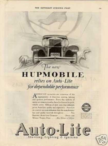 Auto-lite Ad Hupmobile Car (1928)