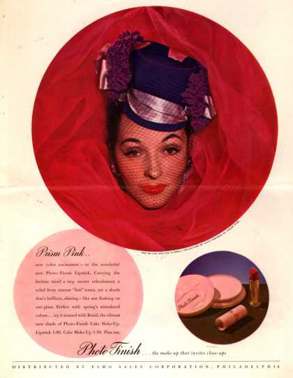 Elmo Sales Corporation's Photo-Finish Lipstick – Prism Pink... (1945)