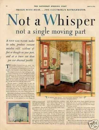 Electrolux Refrigerator Color Ad 2 Page (1929)