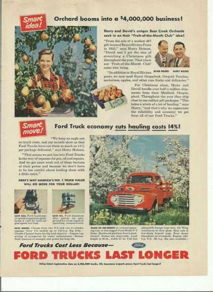 Ford Trucks Cost Less Last Longer (1950)