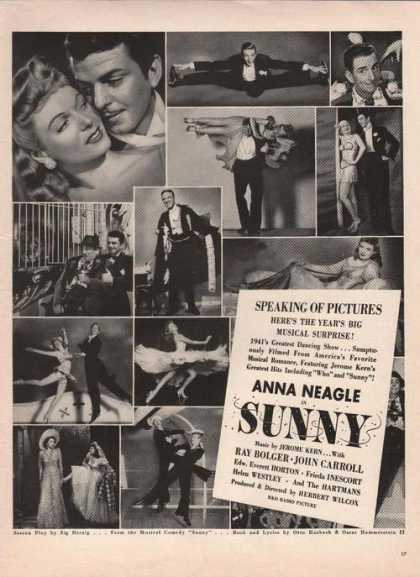 Anna Neagle Ray Bolger In Sunny Movie (1941)