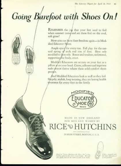 Modified Educator Shoe Rice & Hutchins (1923)