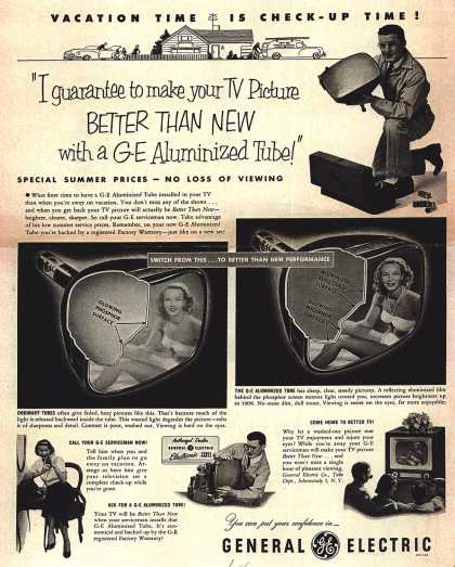 General Electric Company's G-E Aluminized Tube – Vacation Time Is Check-Up Time (1952)