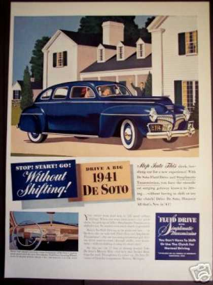 Blue De Soto Desoto 17' of Beauty Car Photo (1941)