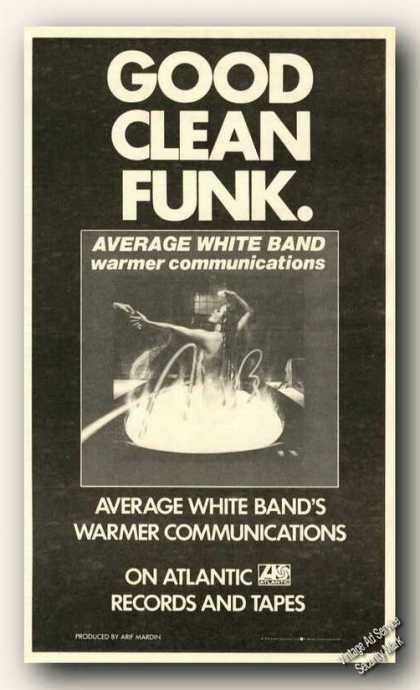 Average White Band Album Promo Ad Music (1978)