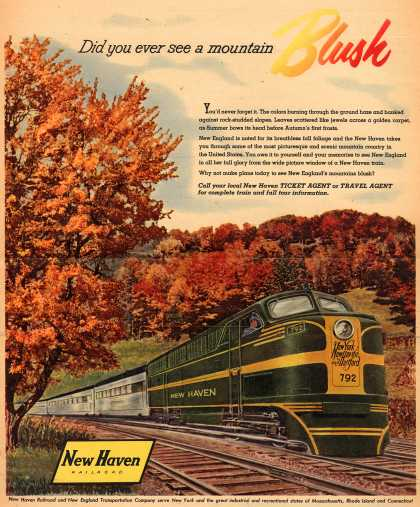 New Haven Railroad – Did you ever see a mountain Blush (1953)