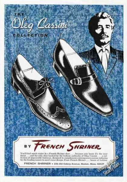 Oleg Cassini Design French Shriner Shoes Rare (1967)