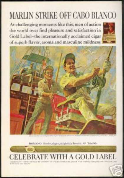 Marlin Fishing Cabo Blanco Art GL Cigar (1969)