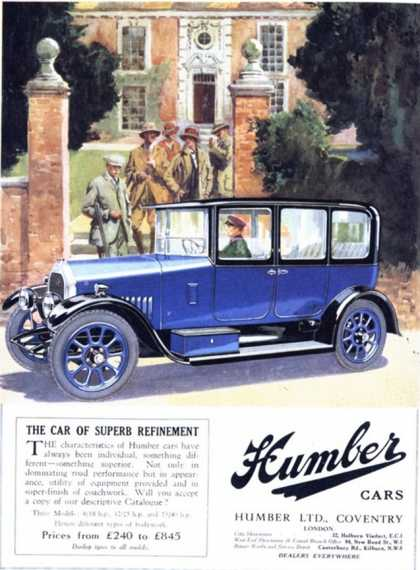 Humber, Cars, UK (1920)
