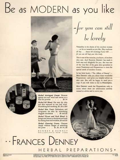 Denney & Denney's Herbal Preparations – Be as Modern as you like (1932)