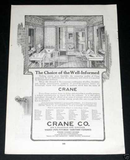 Crane Bathroom Fixtures, Pipes (1919)