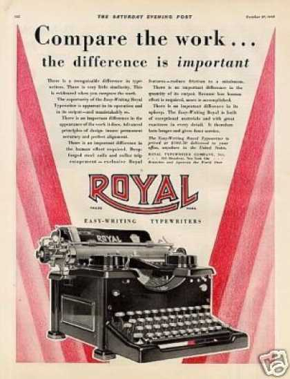 Royal Typewriter Color (1928)