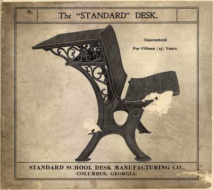 "Standard School Desk Mfg. Co.'s School Desks – The ""Standard"" Desk"