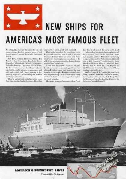 S. S. President Jackson Maiden Voyage New Ships (1940)