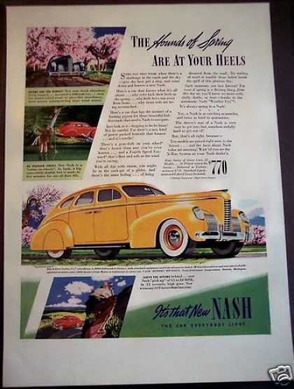 Classic Nash 4-door Sedan Automobile (1939)