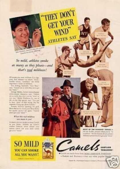 Camel Cigarettes Ad Famous Athletes (1935)