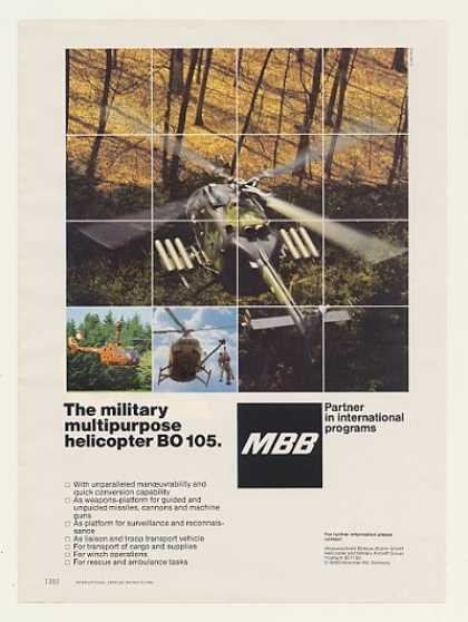 MBB BO 105 Military Multipurpose Helicopter (1985)