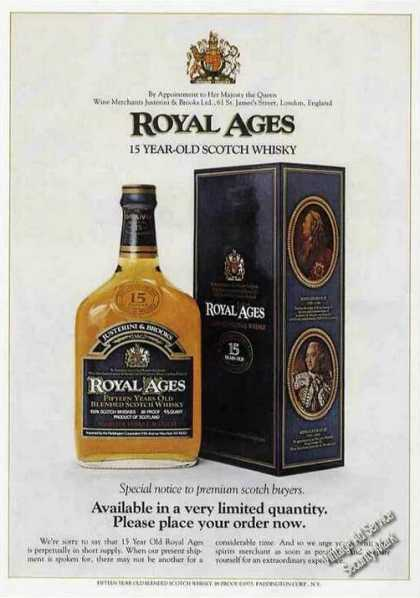 Royal Ages 15 Year-old Scotch Whiskey (1975)