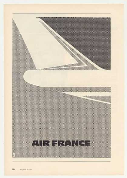 Air France Airlines Jet Tail art (1972)
