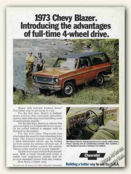 Chevrolet Blazer By Fishing Stream (1973)