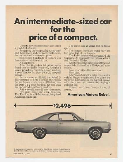 AMC American Motors Rebel Intermediate-Si (1969)